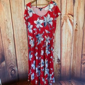 Chaps Floral Summer Dress pretty!